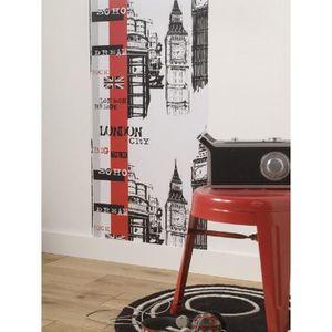 frise murale london achat vente frise murale london pas cher cdiscount. Black Bedroom Furniture Sets. Home Design Ideas