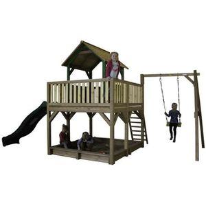 MAISONNETTE EXTÉRIEURE AXI maison enfant exterieur en bois Atka avec bala