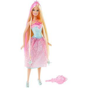 POUPÉE Barbie  Princesse Chevelure Magique Blond DKB60