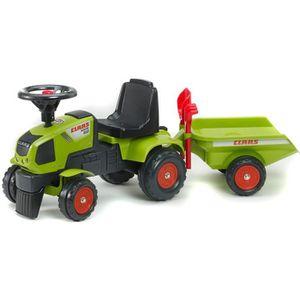 TRACTEUR - CHANTIER FALK Porteur Tracteur Enfant Claas Axos 310 + Remo