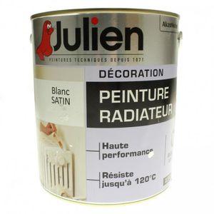 PEINTURE AUTO Peinture radiateur glycero Julien Blanc Satin 2L5