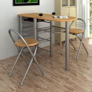TABLE DE CUISINE  Set table de bar table cuisine Avec 2 chaises
