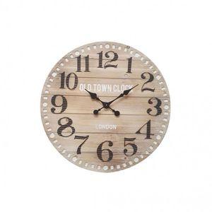 HORLOGE - PENDULE Mobili Rebecca® Horloge Murale Grande Bois Metal S