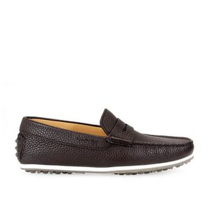 MOCASSIN TRIVER FLIGHT HOMME 98025T MARRON CUIR MOCASSINS