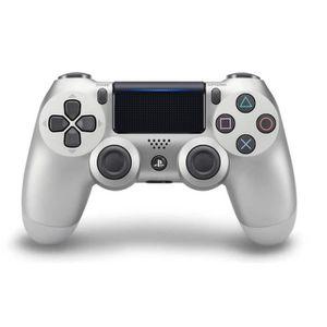 MANETTE JEUX VIDÉO Manette PS4 DualShock 4 V2 Silver +2 Boutons Thumb