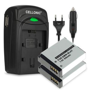 BATTERIE APPAREIL PHOTO 2x Batterie DMW-BLH7 incl. Chargeur DE-A98,DE-A99