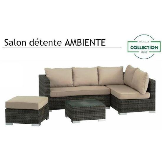 M&Mhomeware - Salon de jardin détente AMBIENTE (2 banquettes ...