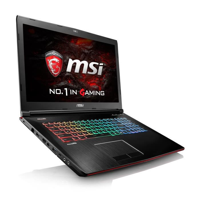 msi pc portable gamer ge72vr 6rf 239xfr 17 3 intel. Black Bedroom Furniture Sets. Home Design Ideas