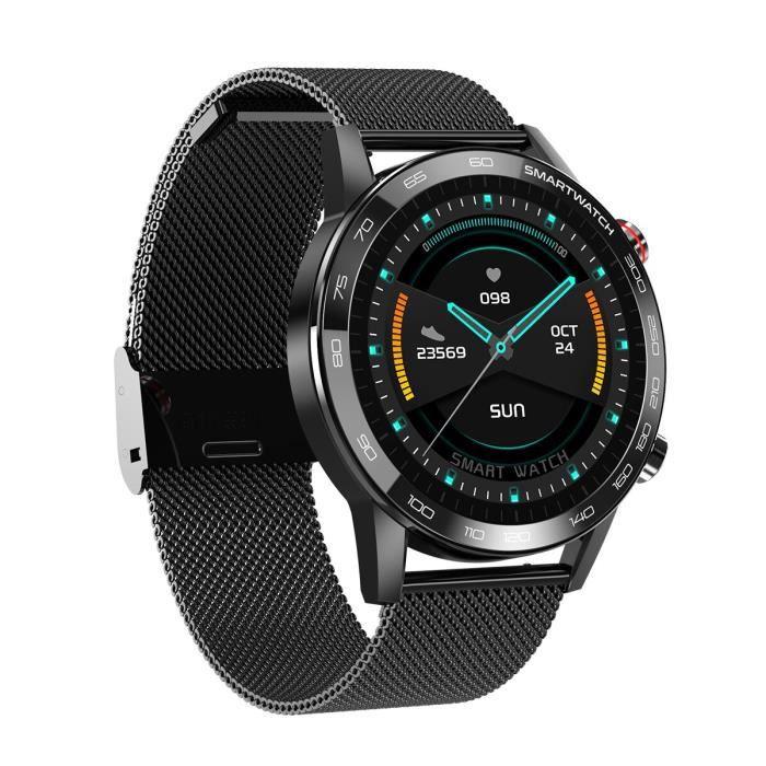 2020 nouveau 360 * 360IPS HD rétine écran Sport montre intelligente pour hommes ECG tension artérielle sport montre - Black - WL5749