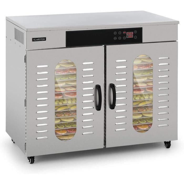DESHYDRATEUR D ALIMENTS Klarstein Master Jerky 500 Pro S&eacutechoir Professionnel-Gastronomique, avec 32 &eacutetag&egravere207
