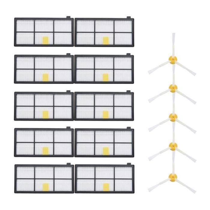 Kit de reconstitution pour iRobot Roomba Brosses latérales, filtres Hepa, pièces de remplacement sous vide, kits pour i*DI6343