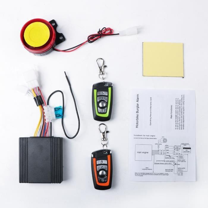 Système d'alarme de Sécurité intelligent Pour Moto, Vélo, Scooter, Télécommande Automatique, Antivol, 12V
