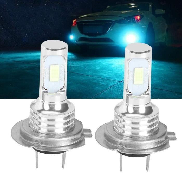 2PCS H7 voiture ampoules LED phares de voiture 8000K 70W 4000LM bleu clair Miaienu 101