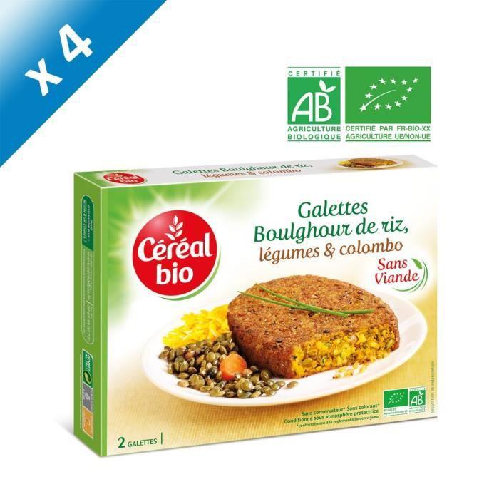 [LOT DE 4] CEREAL BIO Galette de céréales cuisinées de boulghour, riz et légumes Bio - 200 g