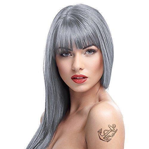 Crazy Color Semi Permanent Hair Color Cream Silver No27 100ml 4 Count