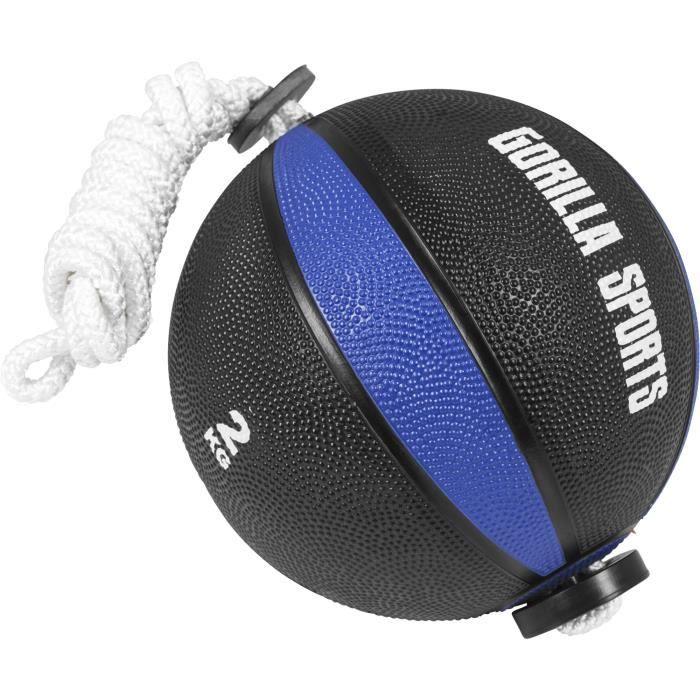Gorilla Sports - Ballon d'exercice avec corde de tornado ball - 2KG