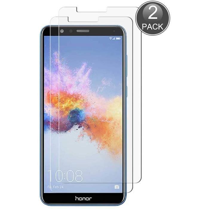 d'écran Protecteur Compatible avec Huawei Honor 7X, 0.26mm HD Protection Anti-Rayures et Anti-Empreintes Digitales, 9H Verre Trempé