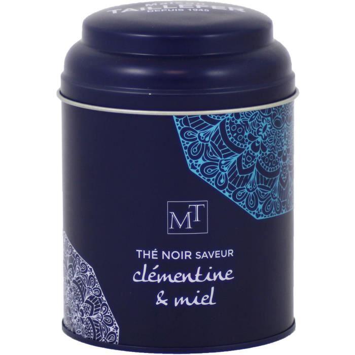 MAISON TAILLEFER Thé Noir Clémentine Miel Boite Métal 100g