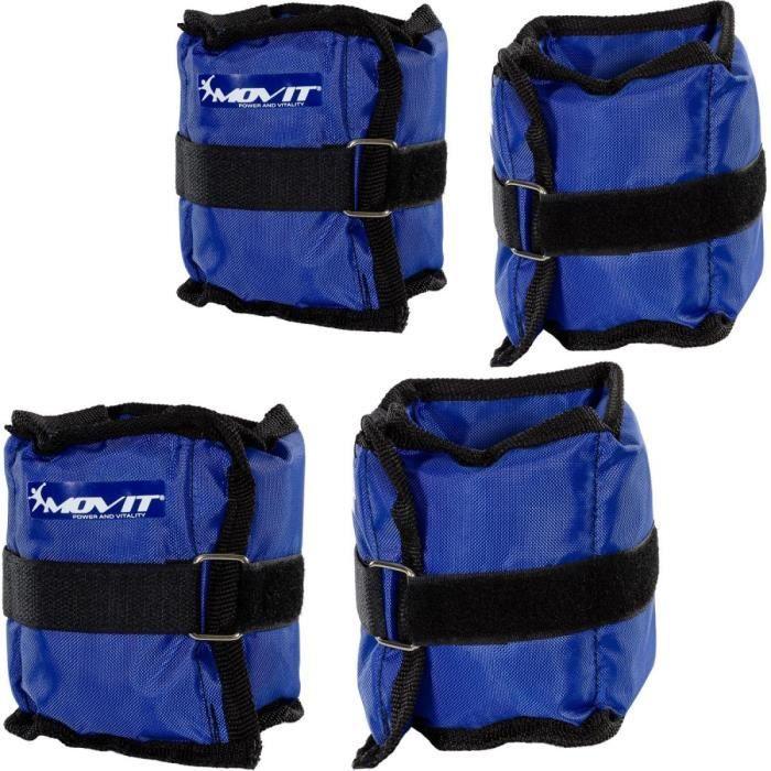 MOVIT Poids de cheville et de poignet bleu 2 x 0,5 kg et 2 x 1,0 kg - 2 paires