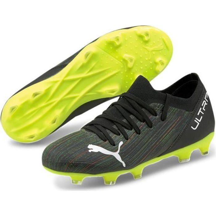 Chaussures de football enfant Puma Ultra 3 2 FG/AG - noir/blanc/jaune fluo - 37
