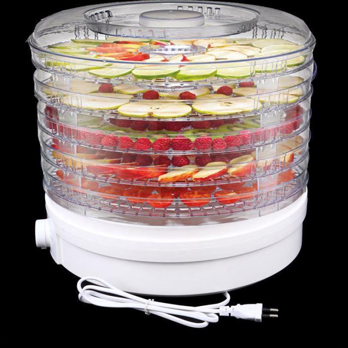 5 plateaux aliment déshydrateur fruits légumes herbe séchage machine sèche-linge