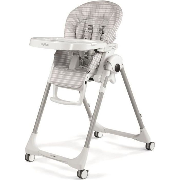 PEG PEREGO Chaise haute multi-positions Prima Pappa Follow Me Linear - Gris