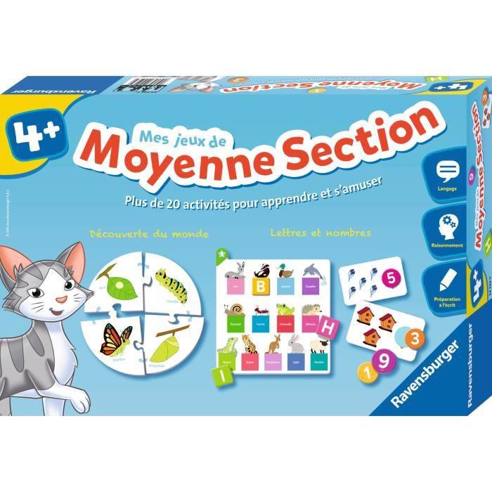 RAVENSBURGER Jeu éducatif Mes jeux de Moyenne Section - 4 ans et +