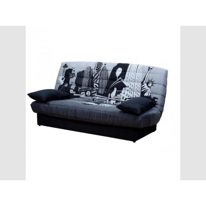 clic clac tissu polyester imprim motif new york achat vente clic clac tissu polyester. Black Bedroom Furniture Sets. Home Design Ideas