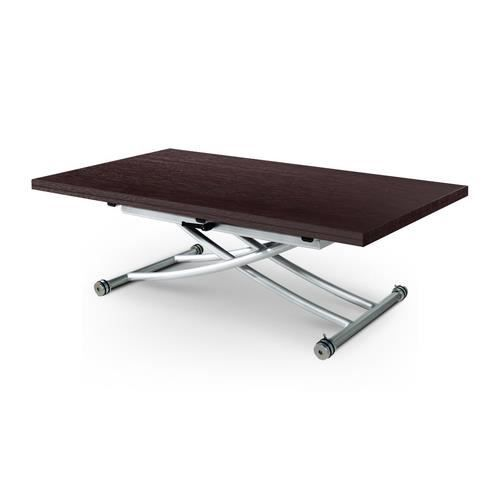 Table basse relevable clever wenge achat vente table - Table basse relevable cdiscount ...