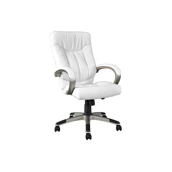 fauteuil de bureau moderne naygeu blanc a l 39 unit achat vente chaise de bureau blanc. Black Bedroom Furniture Sets. Home Design Ideas