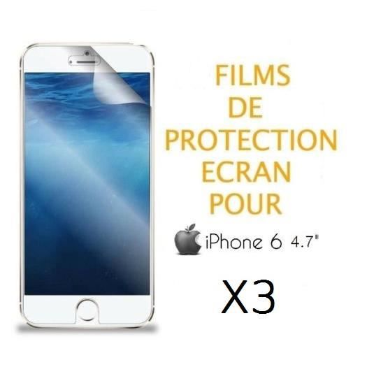 lot x3 films protection ecran pour iphone 6 4 7 achat film protect t l phone pas cher avis. Black Bedroom Furniture Sets. Home Design Ideas