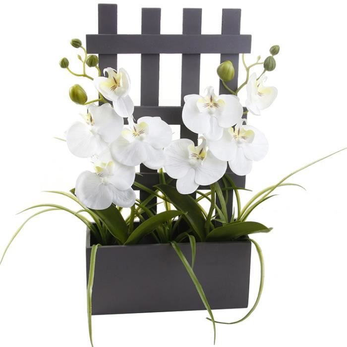 composition florale artificielle orchid es gris achat vente fleur artificielle bois cdiscount. Black Bedroom Furniture Sets. Home Design Ideas