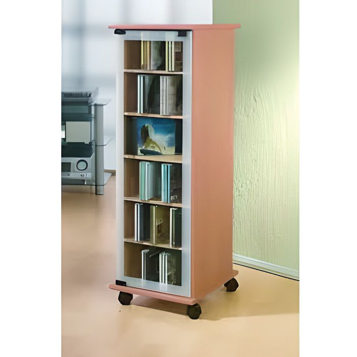 Valenza tour rangement biblioth que cd dvd rotative 300 cd h tre achat ve - Bibliotheque dvd meuble ...