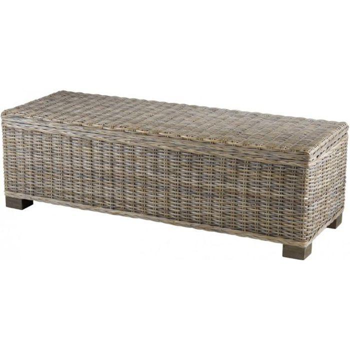 PIÈCE DÉTACHÉE LITERIE Bout de lit coffre en Kubu 130 cm  Inwood