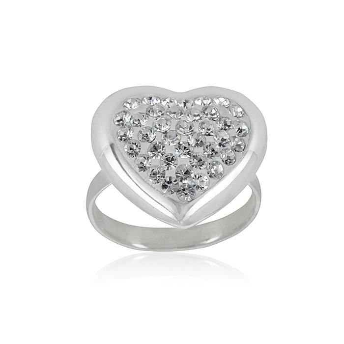 Bague - Argent 925 - Crystals From Swarovski - Bijou Fashion