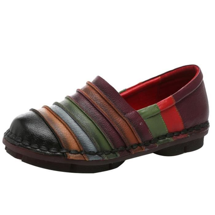 Round Toe Slip-on Flat Mocassins New Shoes R4EOJ Taille-38