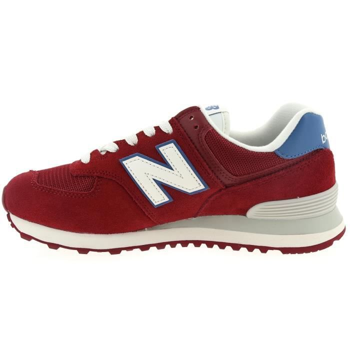 baskets new balance 574 rouge