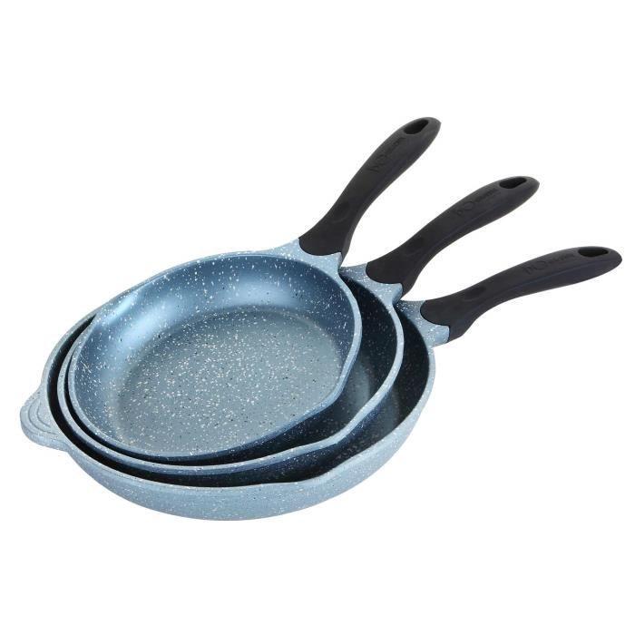 Monix Mineral po/êle Grill carr/ée avec Rayures 28/x 28/cm en Aluminium forg/é avec rev/êtement Type Pierre Anti-adh/ésif sans PFOA,/Induction