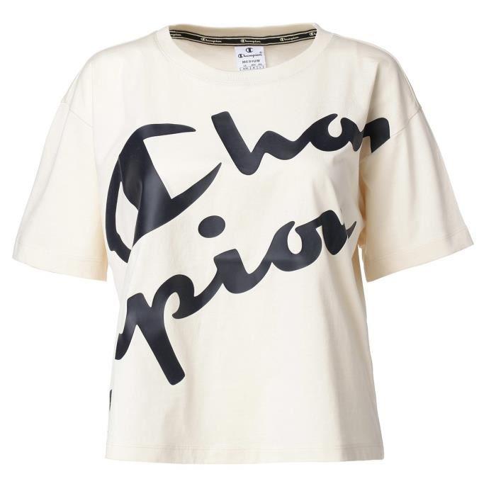 CHAMPION T-Shirt manches courtes 112023 - Femme - Beige