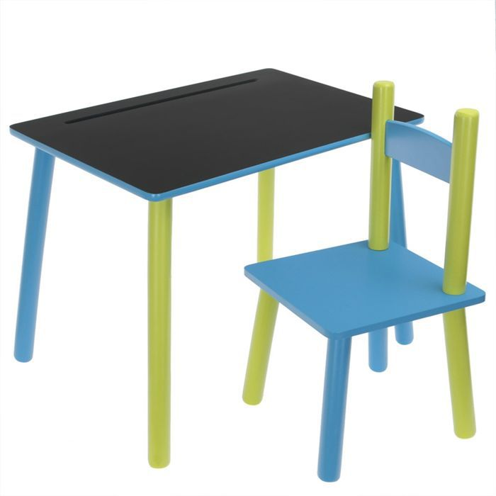 ensemble colier ardoise enfants achat vente table manger cdiscount. Black Bedroom Furniture Sets. Home Design Ideas