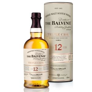 WHISKY BOURBON SCOTCH The Balvenie 12 ans Triple Cask 1L