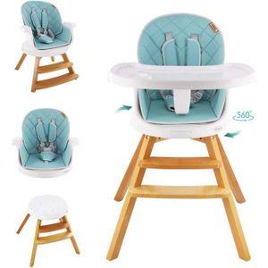 JEOBEST Chaise Haute B/éb/é R/églable Chaise Enfant en Bois Beige