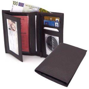 PORTEFEUILLE Portefeuille cuir véritable Porte monnaie cartes H