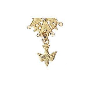 PENDENTIF VENDU SEUL Pendentif Or 1,6 gr Croix Huguenote Brillants 18 c