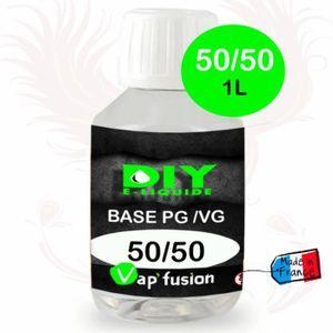 LIQUIDE Base neutre - 1L- PG/VG - 50/50 - DIY E LIQUIDE -
