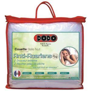 COUETTE DODO Couette tempérée 350gr/m² BELLE NUIT 240x260c