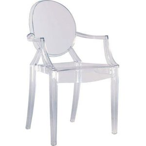CHAISE Kartell 4852B4 Chaise Louis Ghost Transparent I…