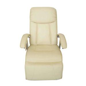 FAUTEUIL Fauteuil de massage électrique Cuir artificiel Crè