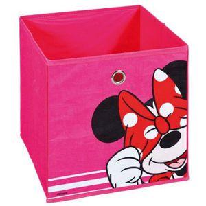 BOITE DE RANGEMENT Bac de rangement pliable Minnie rose, 32 x 32 x 32