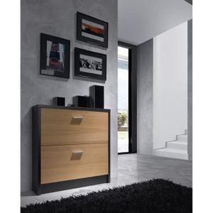 MEUBLE À CHAUSSURES Commode meuble à chaussures en placage naturel col